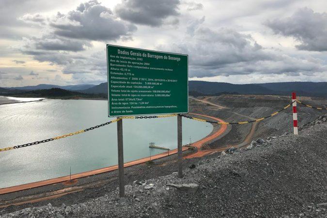 Barragem do Sossego da Vale em Canaã dos Carajás Foto: Seny Lima / Portal Canaã
