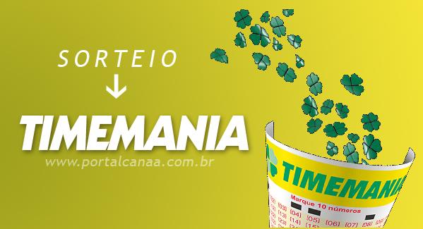 Sorteio da Timemania / Arte: Portal Canaã