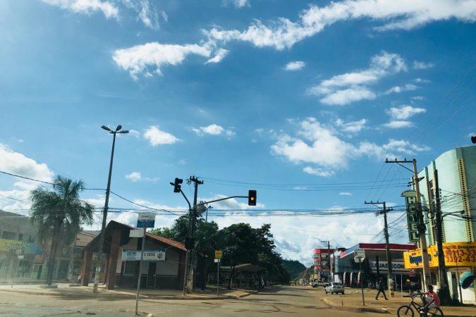 Imagem do centro de Canaã dos Carajás (PA) Foto: Seny Lima / Portal Canaã