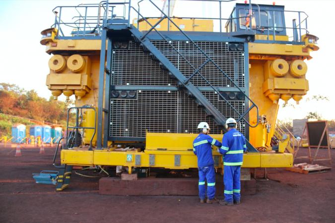 O caminhão autônomo está em montagem e entrará em operação para produção em junho de 2020