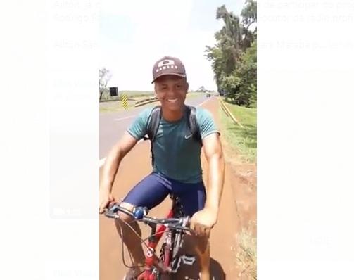 JOvem viaja para São Paulo de Bicicleta