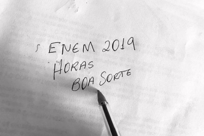Enem 2019, horário de inicio e termino das provas Foto: Seny Lima / Portal Canaã