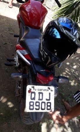 Motocicleta da vítima Recuperada     Foto: Divulgação/Policia Civil