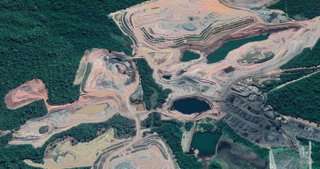 Mina do Azul na Serra dos Carajás - Google Earth / Portal Canaã