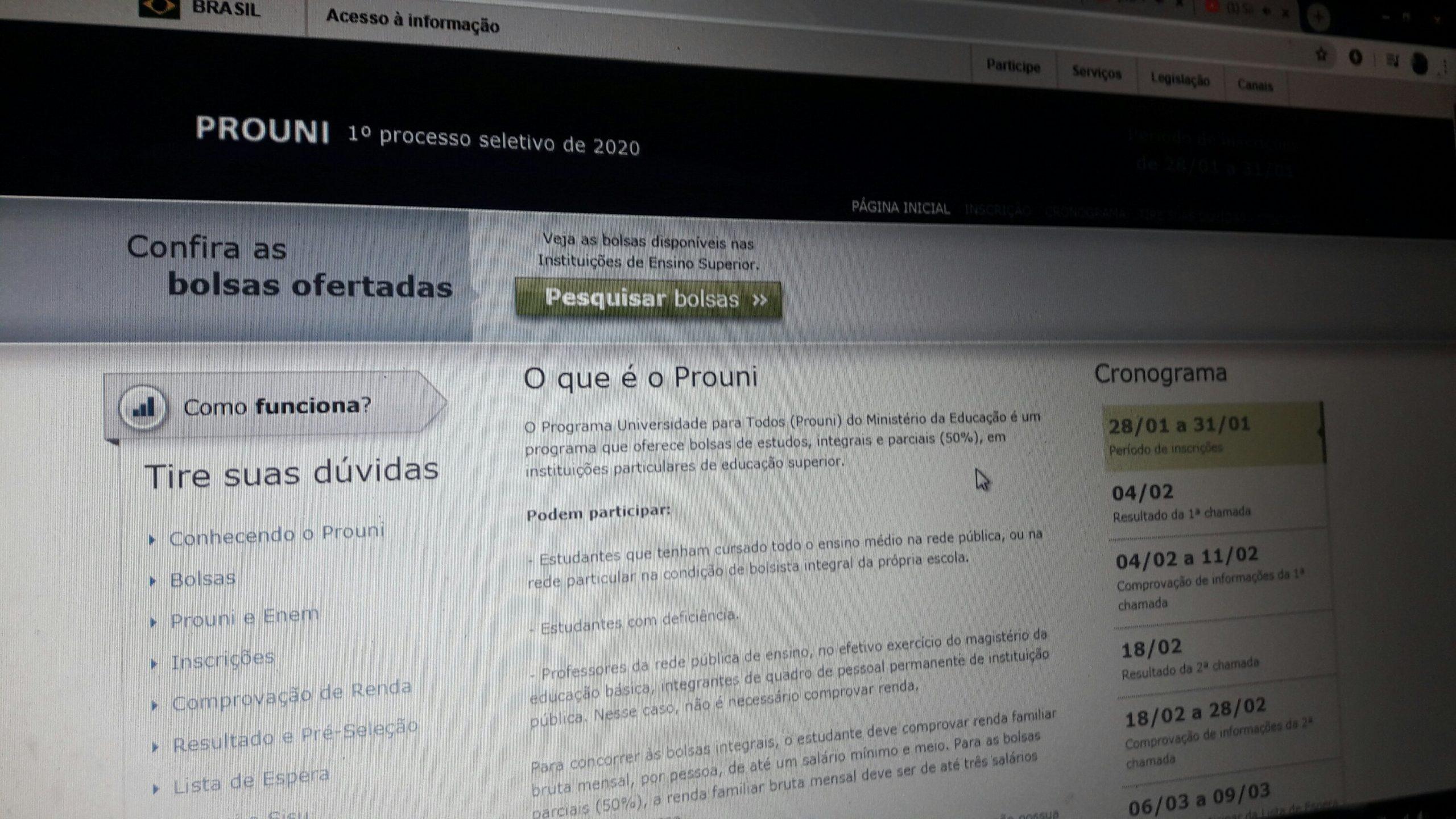 Prouni 2020 / Foto: Portal Canaã