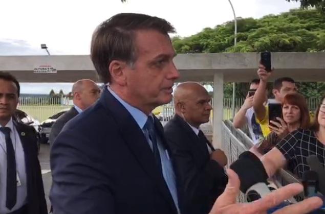 Jair Bolsonaro em Coletiva Foto: Reprodução/Live no Facebook